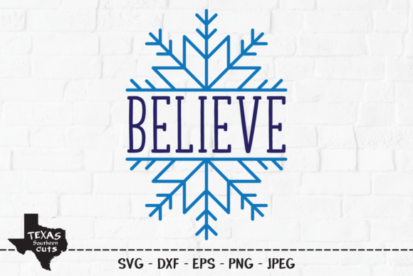 Download Free Believe Christmas Snowflake Design Graphic By SVG Cut Files