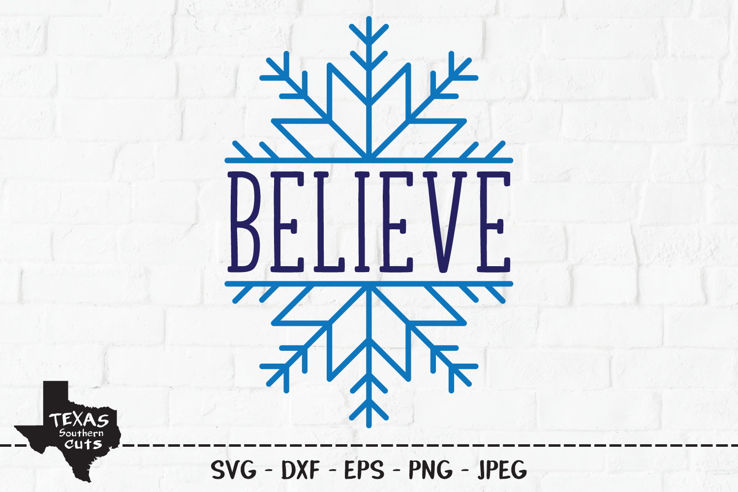 Download Free Believe Christmas Snowflake Design Graphic By for Cricut Explore, Silhouette and other cutting machines.