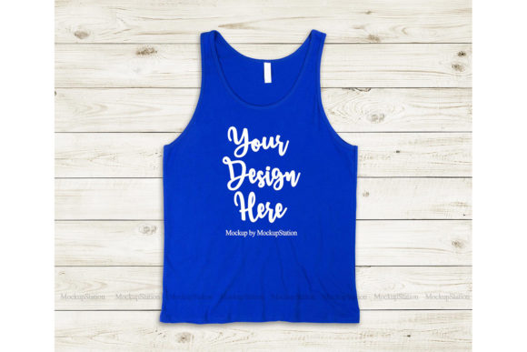 Print on Demand: Bella Canvas 3480 True Royal Tank Top Graphic Product Mockups By Mockup Station
