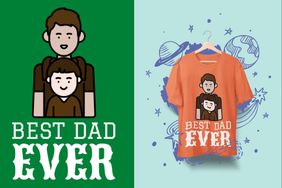 Download Free Best Dad Ever Father S Day Design Graphic By Endlessgraphical for Cricut Explore, Silhouette and other cutting machines.