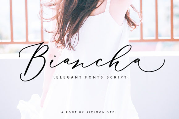 Download Free Biancha Font By Sizimon Creative Fabrica for Cricut Explore, Silhouette and other cutting machines.
