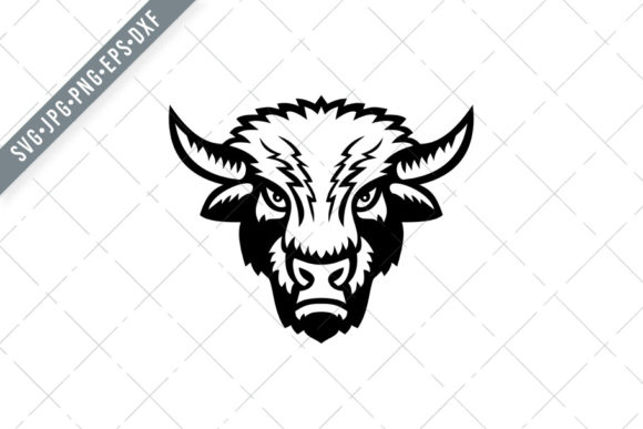 Download Free Bison Or American Buffalo Head Graphic By Patrimonio Creative for Cricut Explore, Silhouette and other cutting machines.