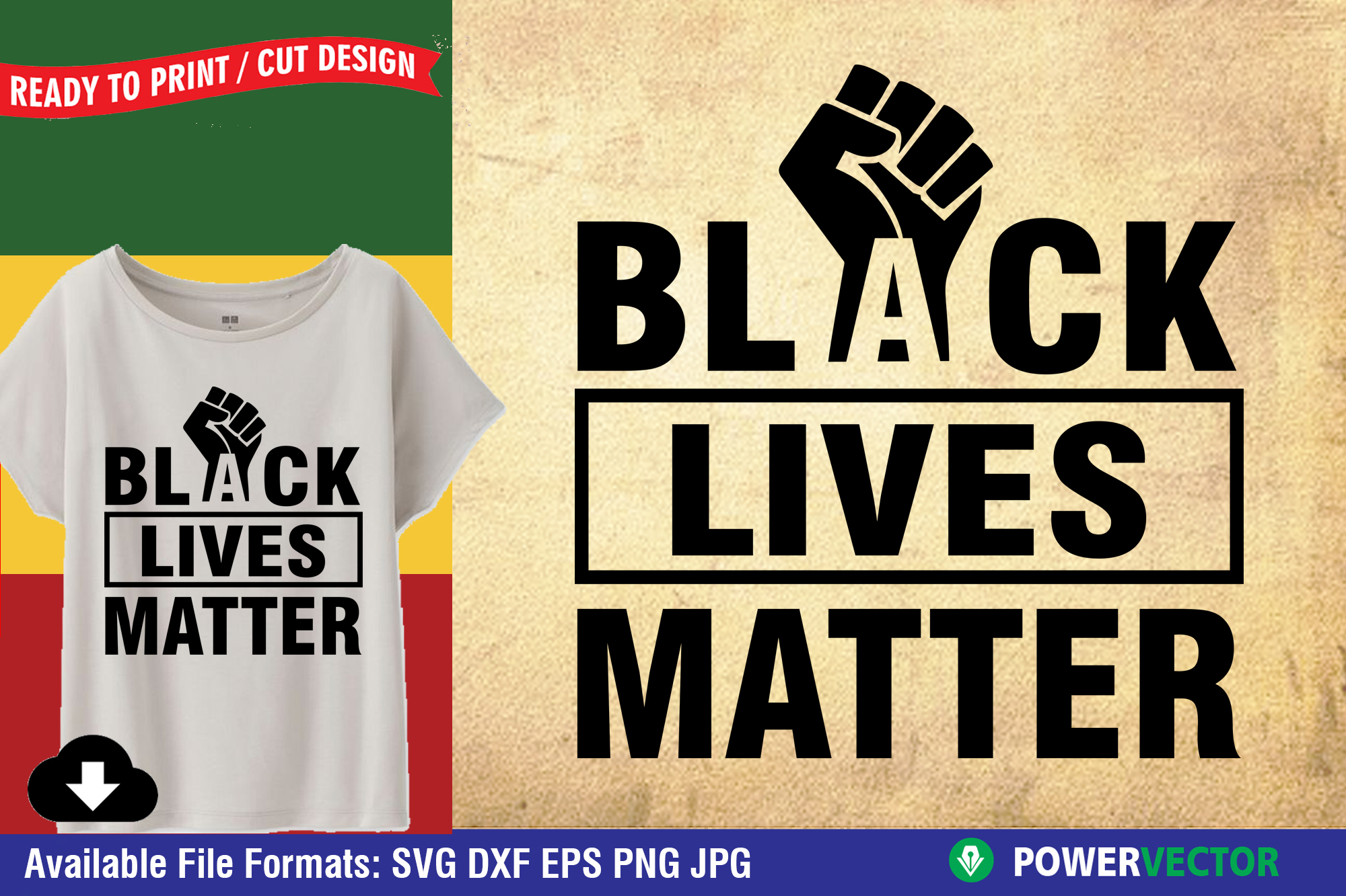Download Free Black Lives Matter Black Fist Clipart Graphic By Powervector for Cricut Explore, Silhouette and other cutting machines.