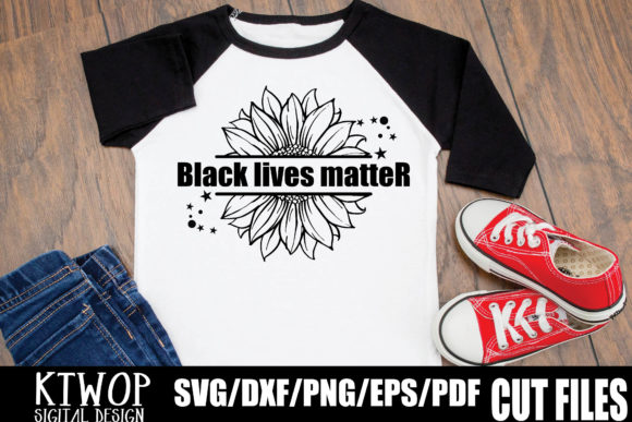 Download Free Black Lives Matter Sunflower Graphic By Ktwop Creative Fabrica for Cricut Explore, Silhouette and other cutting machines.