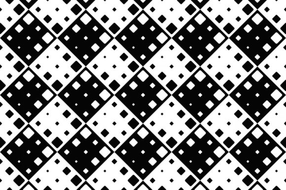 Black and White Square Background Design Graphic Patterns By davidzydd