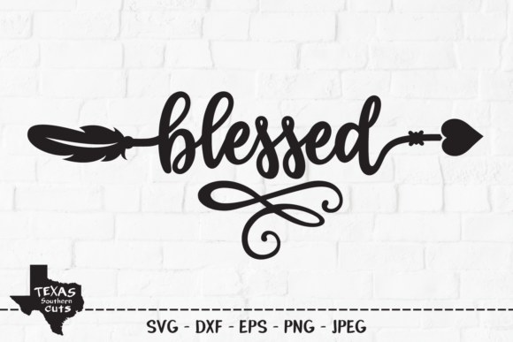 Blessed Tribal Arrow Design Graphic By Texassoutherncuts