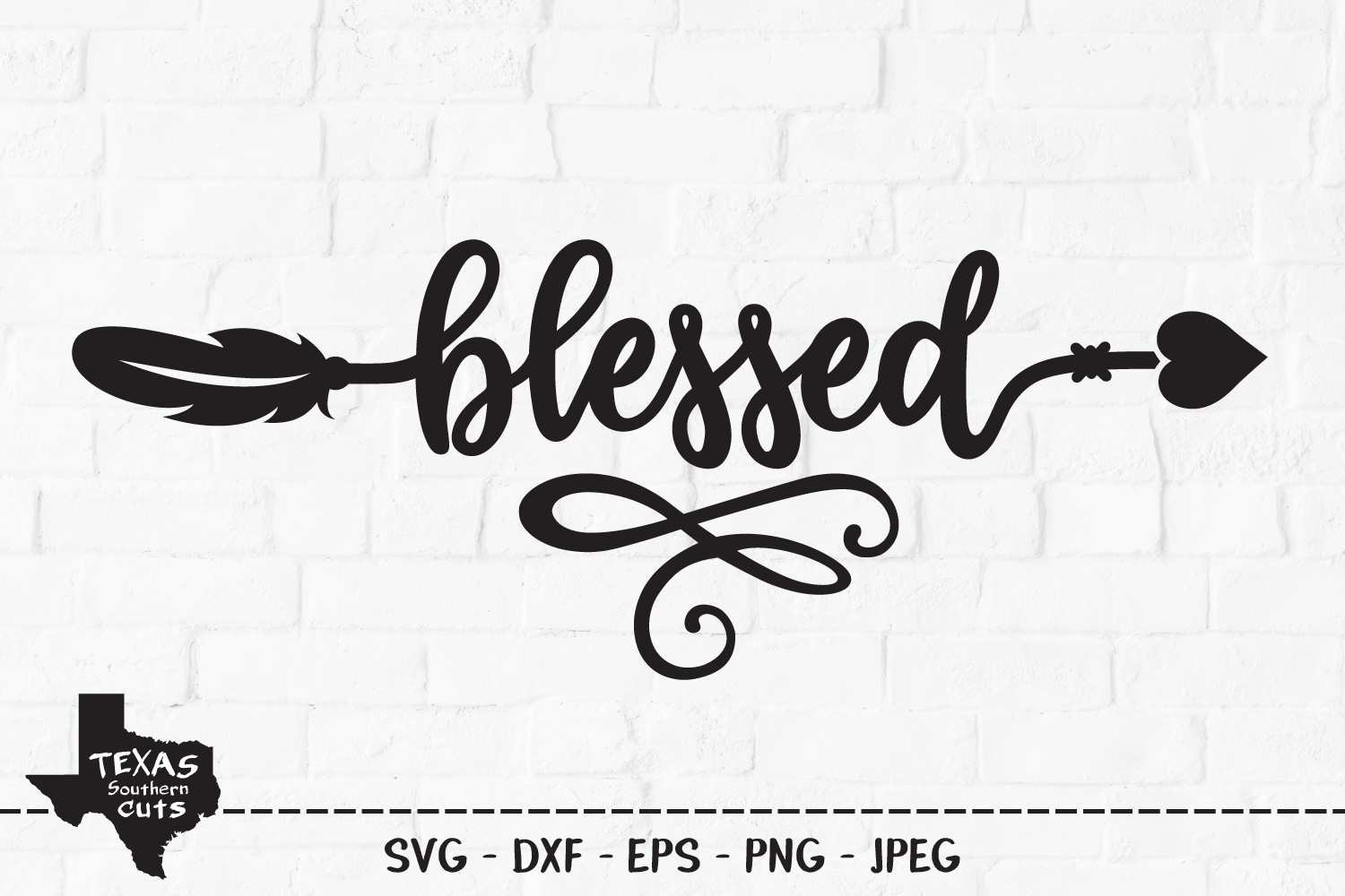Download Free Blessed Tribal Arrow Design Graphic By Texassoutherncuts for Cricut Explore, Silhouette and other cutting machines.