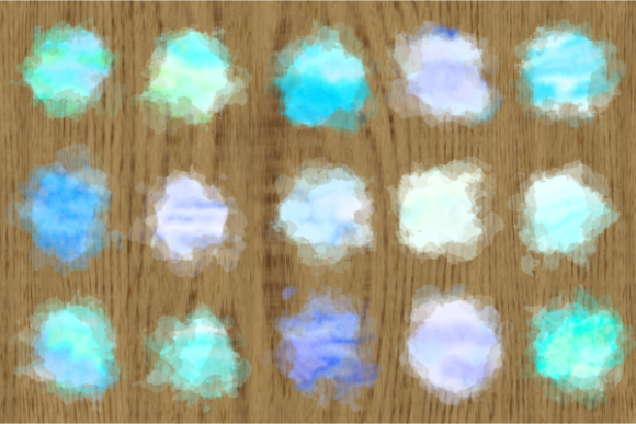 Print on Demand: Blue Turquoise Watercolor Wash Splashes Graphic Backgrounds By Prawny - Image 2