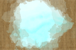 Print on Demand: Blue Turquoise Watercolor Wash Splashes Graphic Backgrounds By Prawny 3