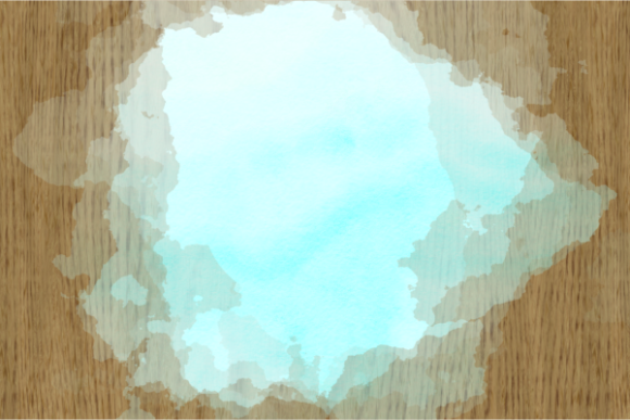 Print on Demand: Blue Turquoise Watercolor Wash Splashes Graphic Backgrounds By Prawny - Image 3