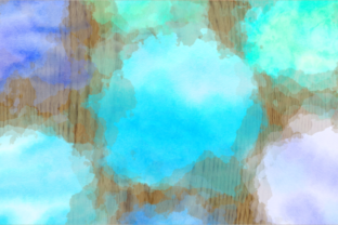 Print on Demand: Blue Turquoise Watercolor Wash Splashes Graphic Backgrounds By Prawny 5