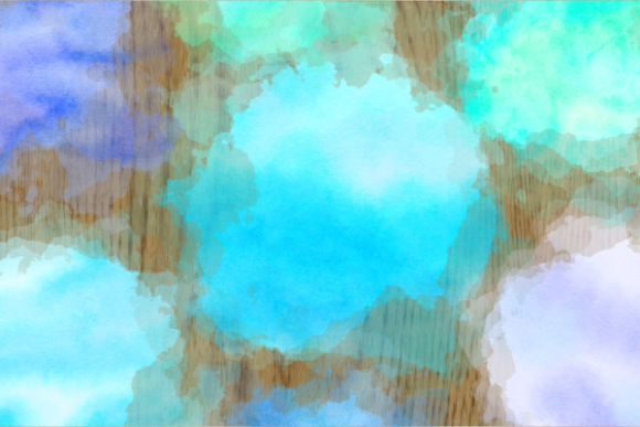 Print on Demand: Blue Turquoise Watercolor Wash Splashes Graphic Backgrounds By Prawny - Image 5