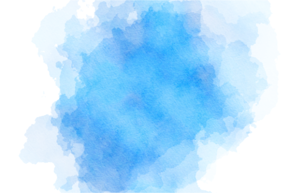 Print on Demand: Blue Turquoise Watercolor Wash Splashes Graphic Backgrounds By Prawny - Image 6