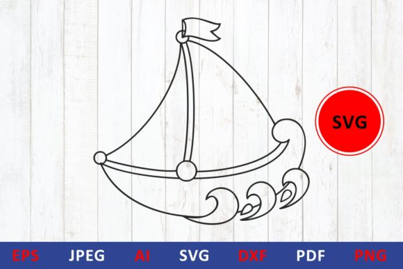 Download Free Boat Icon Sailboat Graphic By Millerzoa Creative Fabrica for Cricut Explore, Silhouette and other cutting machines.