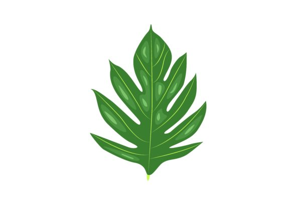 Download Free Bread Fruit Leaf Graphic By Purplebubble Creative Fabrica for Cricut Explore, Silhouette and other cutting machines.