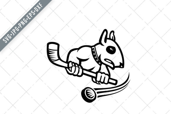 Download Free Bull Terrier Ice Hockey Graphic By Patrimonio Creative Fabrica for Cricut Explore, Silhouette and other cutting machines.