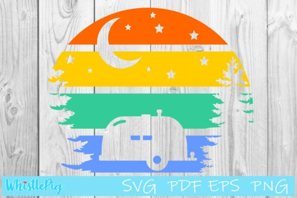 Download Free Welcome To Our Camp Moon And Stars Graphic By Whistlepig Designs for Cricut Explore, Silhouette and other cutting machines.
