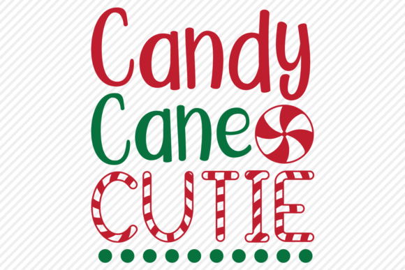 Download Free Candy Cane Cutie Christmas Design Grafico Por for Cricut Explore, Silhouette and other cutting machines.