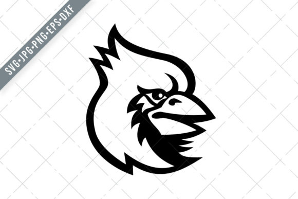 Download Free Cardinal Bird Head Mascot Graphic By Patrimonio Creative Fabrica for Cricut Explore, Silhouette and other cutting machines.