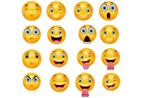 Download Free Cartoon Emoticon Clipart Set Graphic Graphic By Tigatelusiji for Cricut Explore, Silhouette and other cutting machines.