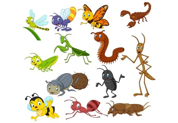 Download Free Cartoon Insect Clipart Set Graphic Graphic By Tigatelusiji for Cricut Explore, Silhouette and other cutting machines.