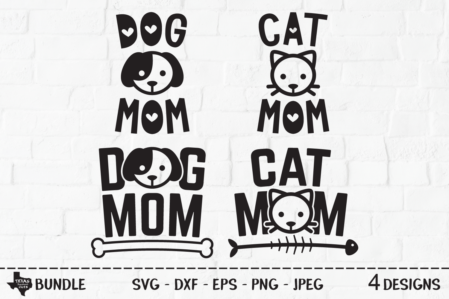 Download Free Cat Dog Mom Bundle Mom Shirt Designs Graphic By for Cricut Explore, Silhouette and other cutting machines.