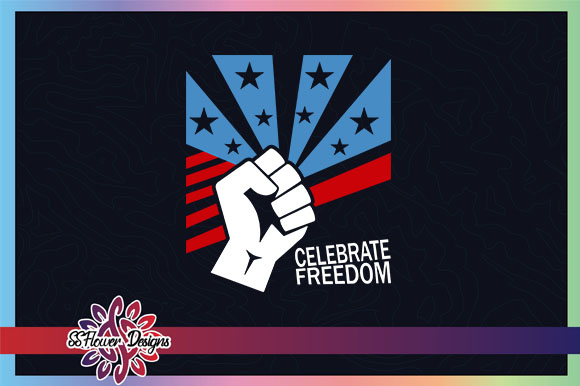 Download Free Celebrate Freedom Fist Black Live Matter Graphic By Ssflower for Cricut Explore, Silhouette and other cutting machines.
