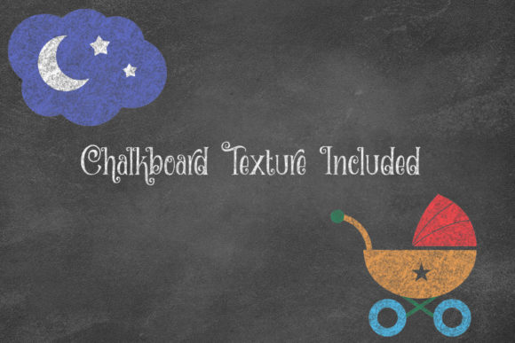 Download Free Chalkboard Bright Baby Clipart Graphic By Digital Curio for Cricut Explore, Silhouette and other cutting machines.