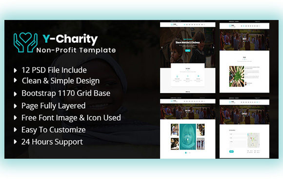 Charity UI KIT Graphic UX and UI Kits By artgalaxy
