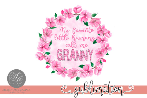 Download Free Cherry Blossom Grandmother Wreath Graphic By Shannon Casper for Cricut Explore, Silhouette and other cutting machines.