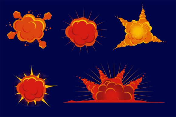 Comic Boom Effect Explode Graphic Illustrations By edywiyonopp