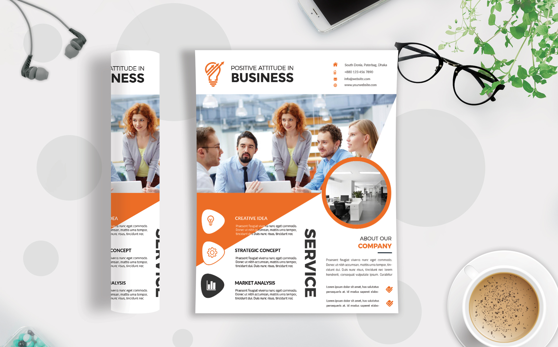 Download Free Corporate Business Flyer Template V 219 Graphic By Imagine for Cricut Explore, Silhouette and other cutting machines.