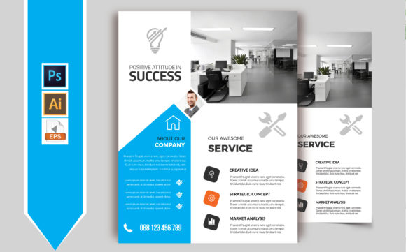 Download Free Corporate Business Flyer Template Vol 67 Graphic By Imagine for Cricut Explore, Silhouette and other cutting machines.
