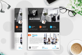 Download Free Corporate Business Flyer Template Vol 74 Graphic By Imagine for Cricut Explore, Silhouette and other cutting machines.