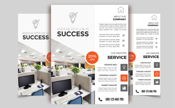 Download Free Corporate Business Flyer Template Vol 77 Graphic By Imagine for Cricut Explore, Silhouette and other cutting machines.