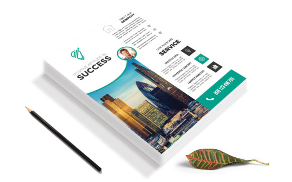 Download Free Corporate Business Flyer Template Vol 95 Graphic By Imagine for Cricut Explore, Silhouette and other cutting machines.