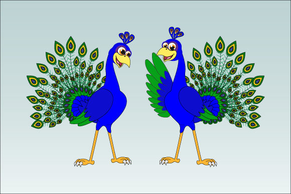 Download Free Cute Peacock Bird Graphic By Curutdesign Creative Fabrica for Cricut Explore, Silhouette and other cutting machines.