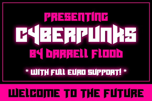 Print on Demand: Cyberpunks Display Font By Dadiomouse