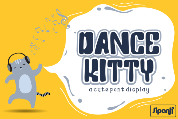 Print on Demand: Dance Kitty Display Font By sipanji figuree