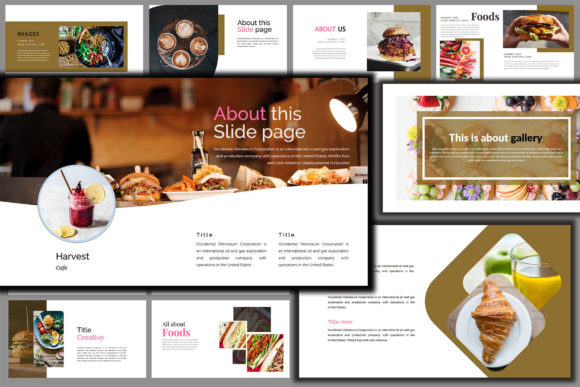 Download Free Delicious Food Creative Powerpoint Graphic By Mindtype Co for Cricut Explore, Silhouette and other cutting machines.