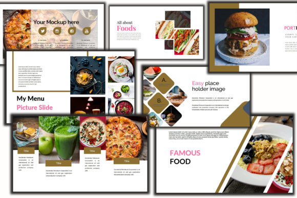Print on Demand: Delicious Food Keynote Template Graphic Presentation Templates By Mindtype Co.
