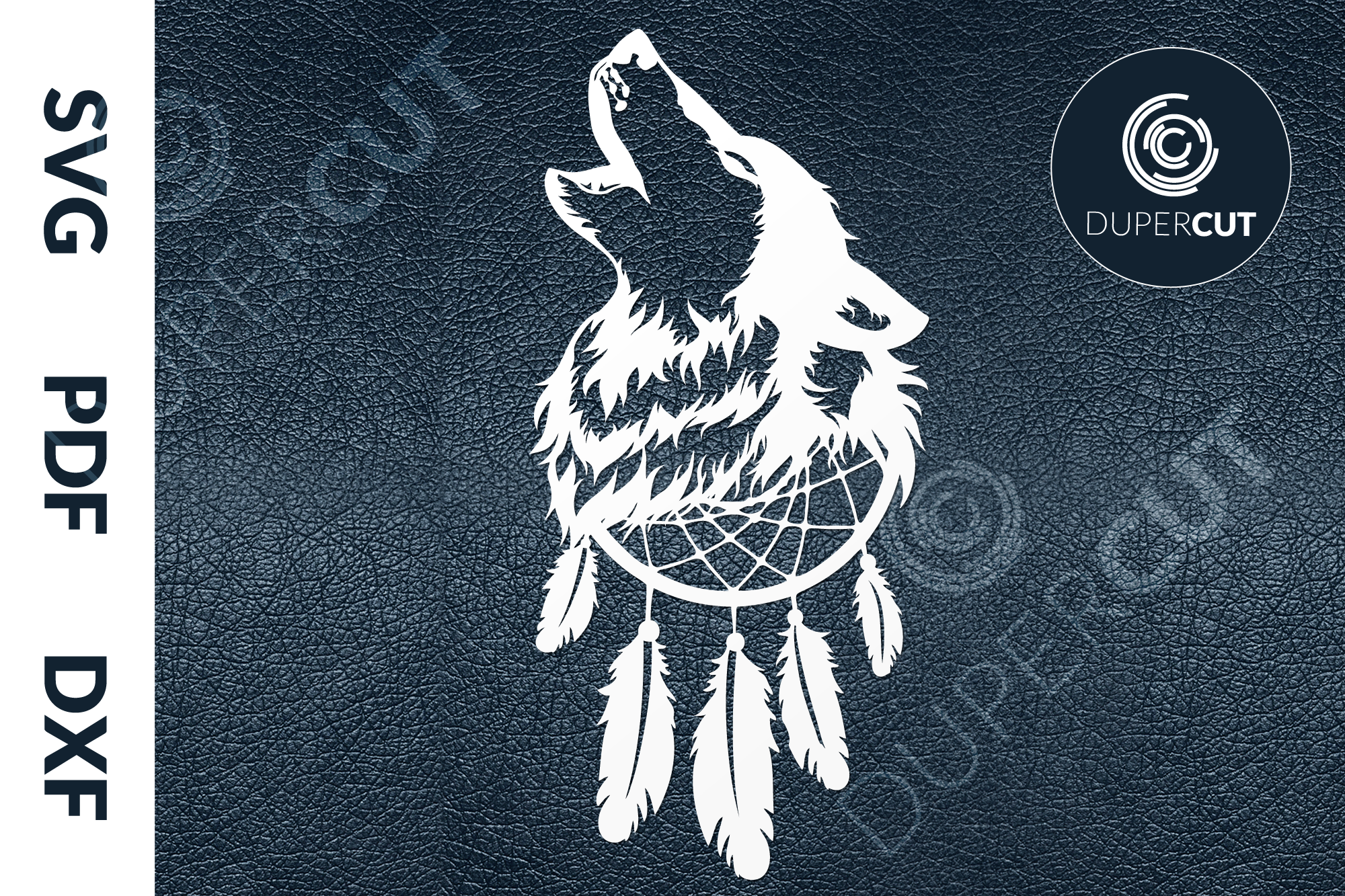 Download Free Dreamcatcher Wolf Graphic By Dupercut Creative Fabrica for Cricut Explore, Silhouette and other cutting machines.