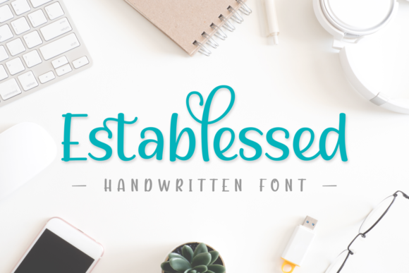 Download Free Establessed Font By Jasm 7ntypes Creative Fabrica for Cricut Explore, Silhouette and other cutting machines.