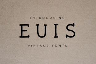Print on Demand: Euis Slab Serif Font By Masyafi Creative Studio