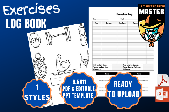Print on Demand: Exercises Log Book Graphic KDP Interiors By KDP_Interiors_Master