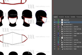 Face Masks - Vector Mockup Template Graphic Product Mockups By markanthonymedia 4
