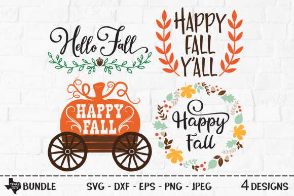 Download Free Fall Bundle Fall Designs Graphic By Texassoutherncuts for Cricut Explore, Silhouette and other cutting machines.
