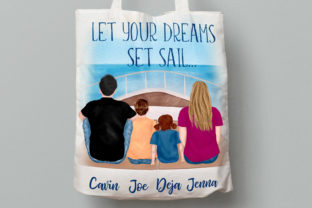 Print on Demand: Family Clipart Vacation Clipart Yacht Graphic Illustrations By LeCoqDesign 8
