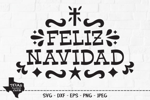 Download Free Feliz Navidad Merry Christmas Design Graphic By for Cricut Explore, Silhouette and other cutting machines.
