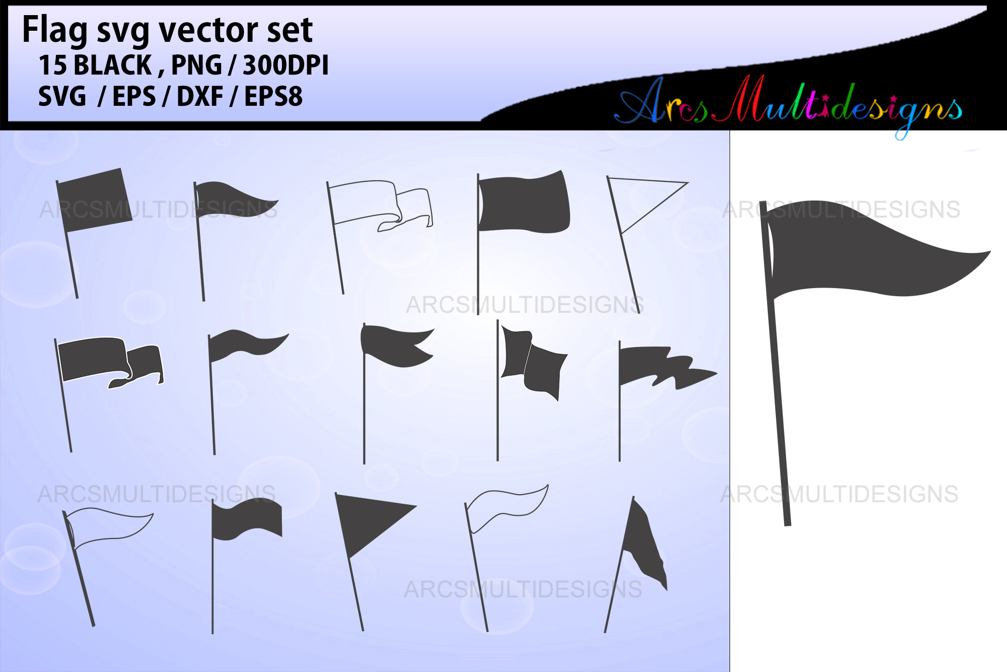 Download Free Flag Banner Template Graphic By Arcs Multidesigns Creative Fabrica for Cricut Explore, Silhouette and other cutting machines.